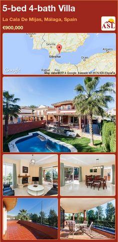 5-bed 4-bath Villa in La Cala De Mijas, Málaga, Spain ►€900,000 #PropertyForSaleInSpain