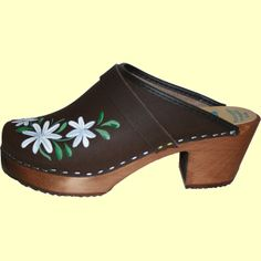Brown Oil High Heal Dina, Tessa Clog