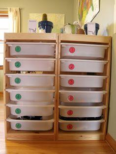 Ikea Trofast Homeschool Workbox System