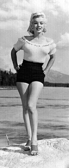 "Marilyn on location in Canada for the filming of ""River of No Return"". Photo by John Vachon, 1953."