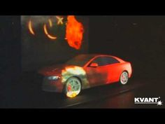 Projection mapping on a white Audi