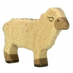 Buy Holztiger White Sheep Standing Waldorf Inspired Wooden Animals & Figures in Toronto, Ontario and throughout Canada! Great selection of Natural Toys and more! Wooden Animal Toys, Wood Animal, Wood Toys, Waldorf Playroom, Waldorf Toys, Natural Toys, Toy Craft, Toy Store, Diy Toys
