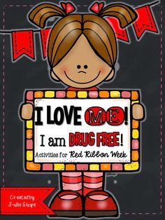 Ms. Shope's Class: I Love Me! I Am Drug Free! {Red Ribbon Week in Kindergarten}