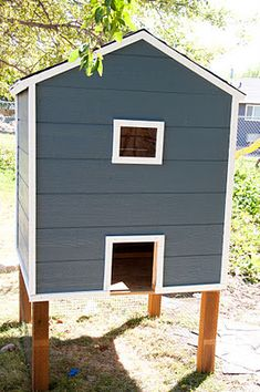 See how we built our chicken coop and stay tuned for the updated post to include… Backyard Chicken Coop Plans, Chicken Coop Pallets, Small Chicken Coops, Easy Chicken Coop, Chicken Coop Designs, Building A Chicken Coop, Chickens Backyard, Leghorn Chickens, Best Egg Laying Chickens