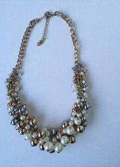 Kaufe meinen Artikel bei #Kleiderkreisel http://www.kleiderkreisel.de/accessoires/ketten-and-anhanger/137083693-zara-kette-statementkette-weiss-gold-silber