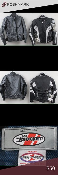 d4a837100a34 Women's Joe Rocket Motorcycle Jacket. Sz. L Black and Silver. Women's motorcycle  jacket