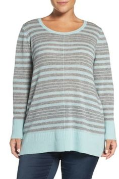 dac3d505b83 Crewneck Wool and Cashmere Sweater (Plus Size)