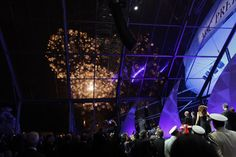 """Genua becomes Precious"" Event for MSC Crociere   Gold Flowers by Parente Fireworks"