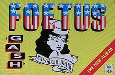 Foetus 1995 Gash Promo Poster Original #foetus