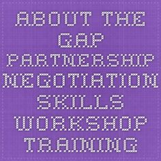 About The Gap Partnership - Negotiation Skills Workshop Training