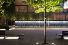 Wharf Green, Swindon. Lighting design by Speirs & Major Associates. A Guide to Implementing Successful #LightingLandscapes within the Public Realm.