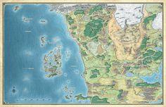 Northwest Faerûn; Sword Coast Adventurer's Guide - 5E (Whole & Tiled) $10