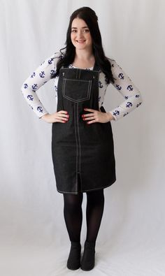 Abi's Cleo Dungaree Dress -    sewing pattern from Tilly and the Buttons