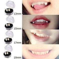 Details über Halloween Fake Tooth Cosplay Gebiss Zombies Vampire Ghost Devil Fangs Teeth l