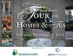 St. Vincent's 2012 Annual Historic Tour of Homes & Tea in Savannah - Fall Tour of Homes, October 20