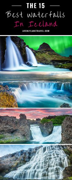 You do not have to look very hard to find waterfalls in Iceland. They are literally everywhere; while driving around the island we unexpectedly ran into amazing waterfalls we didn't even know were going to be there. Check out 15 of the BEST waterfalls in Places To Travel, Places To See, Travel Destinations, Iceland Adventures, Iceland Waterfalls, Iceland Hikes, Voyage Europe, Destination Voyage, Iceland Travel