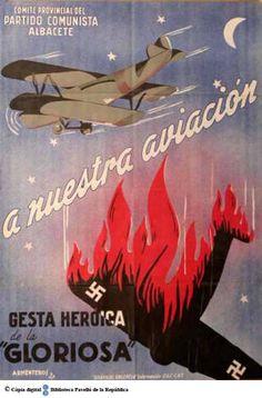 """A nuestra aviación : gesta heroica de """"La Gloriosa"""" :: Cartells del Pavelló de la República (Universitat de Barcelona)"""