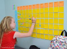 post it note study wall and tips - I'm sure there's a way to adapt this to our eclectic school style . . .
