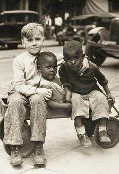 +~+~ Vintage Photograph ~+~+ Best buds by Luke Swank c. 1930s