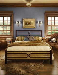 50 Extraordinary Metal Bed Designs That Will Fit In Any Interior Style - Page 27 of 27 Furniture, Bed Design, Modern Wooden Bed, Welded Furniture, Metal Beds, Bedroom Furniture, Bed, American Leather Sofa, Bed Frame