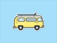 VW Surf Bus Sticker designed by Luke Holloway. Connect with them on Dribbble; the global community for designers and creative professionals. Sticker Design, Wall Design, Art Quotes, Vw, Surfing, Digital Art, Animation, Scrapbook, Graphic Design