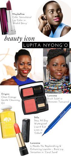 Beauty Icon: Lupita Nyong'o   theglitterguide.com