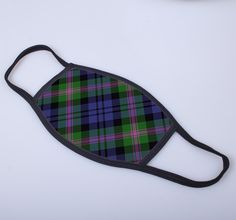 Non medical face covering with Baird printed tartan
