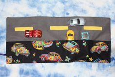 Handmade Toy car roll up car caddy and road UK seller by SewBitsy, £10.00