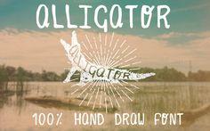 Alligator Hand Draw Font by Luis Quesada Design on Creative Market