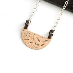 From Mondemade artist Camillette: Random Half-moon Necklace – Large