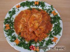 Κοτόπουλο σε ροζ σάλτσα Health Matters, Recipies, Curry, Low Carb, Pizza, Diet, Chicken, Greek Beauty, Cooking