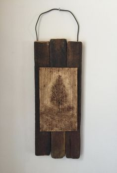 Primitive Home Decor, Nature Inspired, Rustic Wall Art, Tree, Reclaimed Wood, Neutral, Camp, Cabin, Lodge, Cottage, Farmhouse, Office, Gift