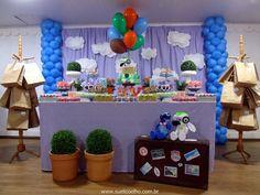 Festa viagem de balão do Doki - Discovery Kids http://www.suelicoelho.com.br/2014/07/festa-infantil-doki-para-o-levi.html