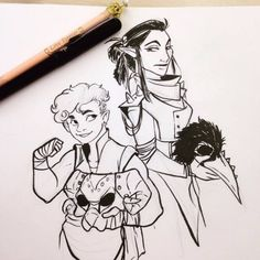 New TAZ today! So I drew my take on Sloane and Hurley during my 8am class today.