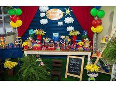 decoração festa Show da Luna