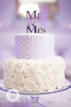 Simple, Elegant, Chic Wedding Cakes ❤️ See more: http://www.weddingforward.com/simple-elegant-chic-wedding-cakes/ #weddings