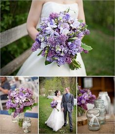 Purple Wedding Inspiration.  Love the colors and the types of flowers used!