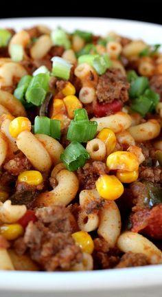 Spicy Southwestern Goulash