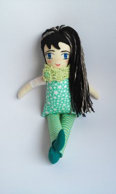 cloth doll, handmade rag doll, handmade cloth dolls, muñeca de trapo, heriloom doll, muñeca de tela, star doll, art doll