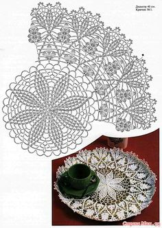 The best and clearest diagram for this beautiful doily