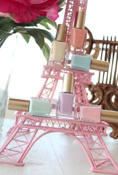 Nail Lingerie and Sweet Spring-in-Paris Colors - KandeeJ