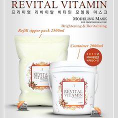REVITAL VITAMIN 2000ml Masque Powder Brightening & Revitalizing Home Care Mask  #Anskin