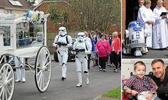 Star Wars themed funeral for a 4 year old boy who loved the series