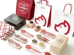 Brand Identity Design, Graphic Design Branding, Logo Design, Ice Cream Packaging, Cake Packaging, Carnicerias Ideas, Chicken Brands, Meat Packing, Japanese Packaging