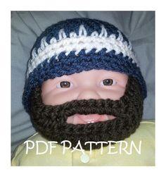 Bearded Beanie Hat Crochet Beard Hat, Crochet Baby Hats, Crochet Clothes,  Knitted Hats 6648b5f1729