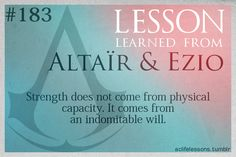Assassin's Creed Life Lessons from Altair and Ezio