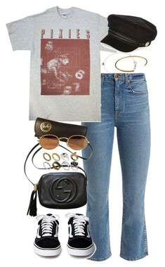 """Untitled #3471"" by angieswardrobe ❤ liked on Polyvore featuring Khaite, River Island, Gucci, Ray-Ban, Kismet, Le Gramme and ASOS"