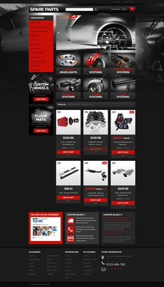 Check out this Auto Parts Ecommerce Template PrestaShop Theme ( and you will fall in love with it. Clean, professional and simple design. Template Web, Ecommerce Template, Website Template, Templates, Website Design Layout, Web Layout, Layout Design, Auto Site, Car Ui