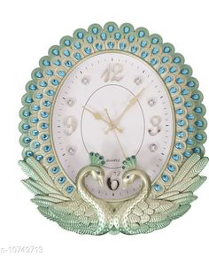 Checkout this latest Wall Clocks Product Name: *Aarav Arts Designer Analog Wall Clock* Material: Plastic Pack: Pack of 1 Product Length: 40 cm Product Breadth: 35 cm Product Height: 6 cm Country of Origin: India Easy Returns Available In Case Of Any Issue   Catalog Rating: ★3.9 (321)  Catalog Name: Wonderful Wall Clocks CatalogID_1977032 C127-SC1440 Code: 976-10749713-2271