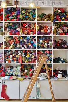 Loop | London...one day, I will have a room in my house for this kind of yarn storage.